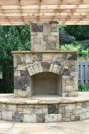 glass rock outdoor fireplace stone grill plans backyard outdoor