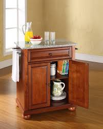 crosley alexandria solid granite top portable kitchen island solid
