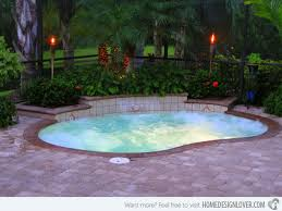 Great Pool Small Swimming Pool Designs 25 Best Small Backyard Pools Ideas On