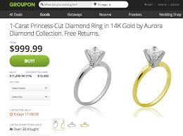 groupon wedding rings groupon says it s selling engagement rings at 10 000 discount jck