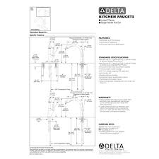 delta linden kitchen faucet installation instructions sinks and