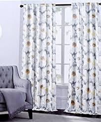 Large Floral Print Curtains Amazon Com Hillcrest Window Curtains Arlene Large Flowers Floral