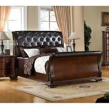 King Size Leather Sleigh Bed Leather Sleigh Bed Ebay