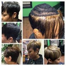 sew in weave short hair atlanta nice short sew in by k green hair read the article here http