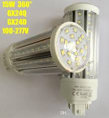 led light bulb replacement gx24q 3 led light 15w replace cfl plt 42w 32w 120v 230v 277v 5000k