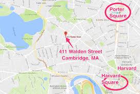Map Of Cambridge Ma 411 Walden Street Cambridge Ma