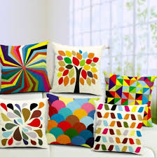 beautiful pillows for sofas 6 pattern modern colorful bright geometry cushion cover beautiful