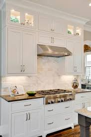 Kitchen Sink With Backsplash Tiles Backsplash White Kitchen White Countertops Square Foot Tile