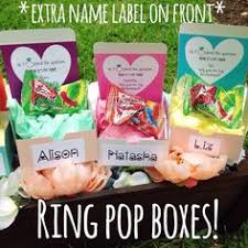 Ring Pop Boxes Will You Be My Bridesmaid Ring Pop Box Turquoise Damask