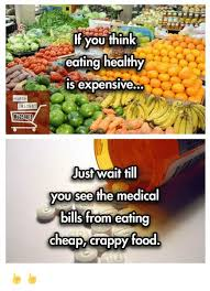 Eating Healthy Meme - march against santo if you think eating healthy is expensive just
