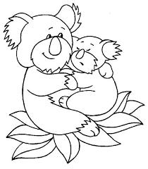 koala bear hug baby coloring color luna