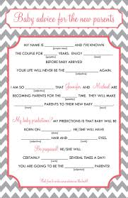 baby mad libs 28 images of baby shower advice mad libs template eucotech