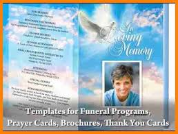 Templates For Funeral Program 11 Free Funeral Program Template Resume Language