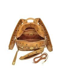 mcm designer mcm mcm s orange pvc backpack bluefly