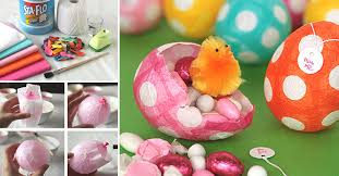 paper mache easter eggs how to make papier mache easter eggs diy crafts handimania
