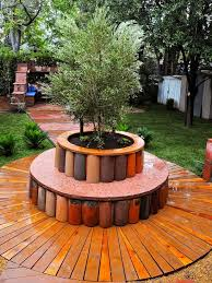Tree Bench Ideas Circular Planters Around Trees Round Designs
