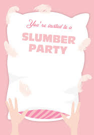 free printable sleepover party invitation customizable too