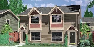 narrow lot house plans with rear garage duplex house plans narrow lot duplex house plans d 543