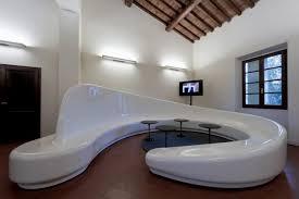 living room home furniture design of brown wooden bench designed