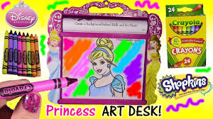 disney princess rolling art desk 50 feet of coloring pages color