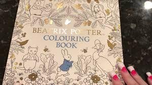 beatrix potter coloring book flip through youtube