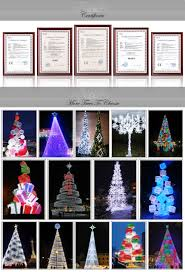 commercial christmas decorations led large artificial tree