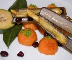 cuisiner la papaye recette salade de couteaux de mer et de feijoa papaye grenade et