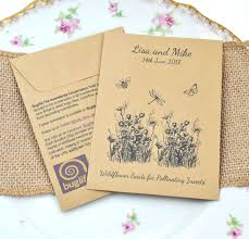 wildflower seed packets buglife seed packet charity wedding favour wedding ideas