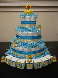 Rubber Duck Baby Shower Diaper Cake Rubber Ducky Diaper Cake