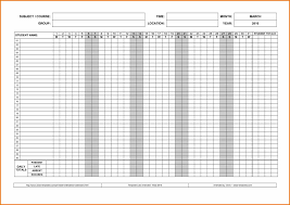 of sunday attendance sheet template free printable