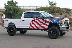 Custom Car Flag American Flag U0026 Eagle Truck Wrap Visual Horizons Custom Signs
