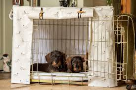 Dog Crate Covers Dog Crate Cover In Sophie Allport Hare Oil Cloth By Hidey Hidey