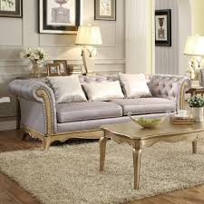 Classic Chesterfield Sofa by Grey And Silver Living Room Ideas Round Wooden Polish Nigh Stand