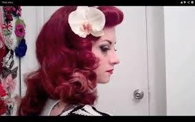 vintage hair 1950 u0027s hawaiian style wet set curls with cherry