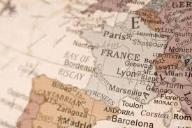 Marseille France Map by Detail Shot Of France On An English Globe Stock Photo Picture
