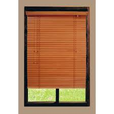 home decorators collection golden oak 2 in basswood blind 47 in