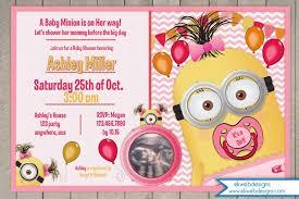 minions baby shower minion baby shower invitation it s a girl invitation