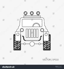 army jeep drawing vector illustration jeep big offroad car stock vector 631610021