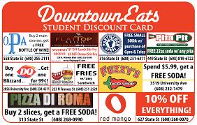 restaurant discounts downtowneats uw free restaurant service discounts for uw students