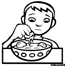 bizarre food coloring pages 1