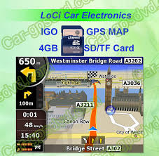 Toyota Map Update Usa by 4gb Sd Card With Car Igo Gps Navigation Map Download On Line