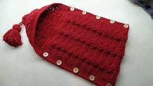 newborn pattern video crochet cable stitch newborn baby bunting cocoon tutorial free