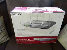 Under Cabinet Radio Tv Kitchen Sony Icf Cd553rm Clock Radio Ebay