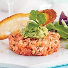 cuisine et tartare de saumon épicé et guacamole recettes cuisine et