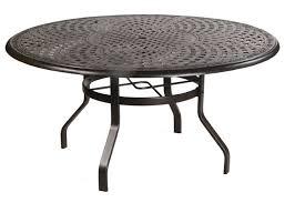 60 Patio Table Waverly 60 Inlaid Lazy Susan Cast Aluminum Table Alu 709086
