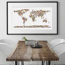World Map Wall Sticker by Wall Sticker World Map Xl