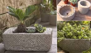 How To Make Planters by How To Make Affordable Outdoor Planters Using Hypertufa Home