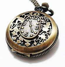 necklace watch vintage images Alice in wonderland pocket watch necklace vintage jpg