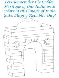 india gate coloring page printable for kids