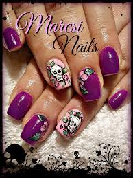 403 best nails skulls images on pinterest skull nail art